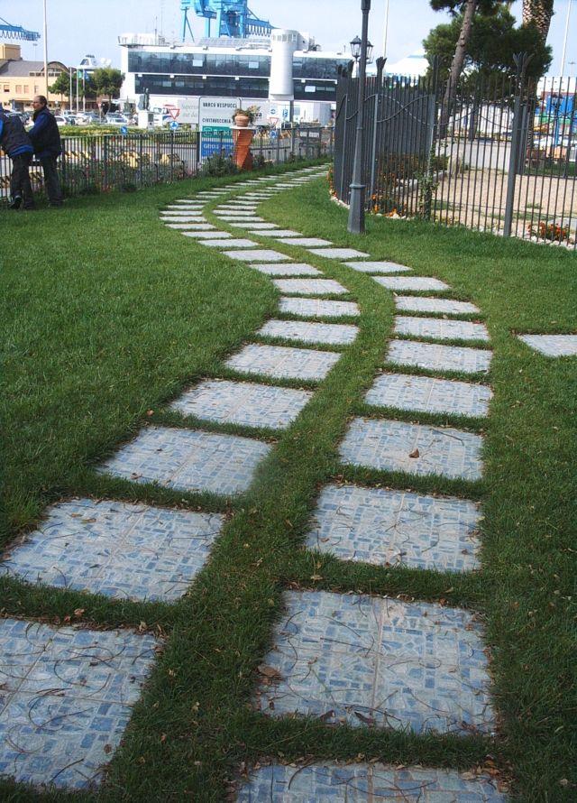 Lastra mattonella piastrella - Mattonelle per giardino ...